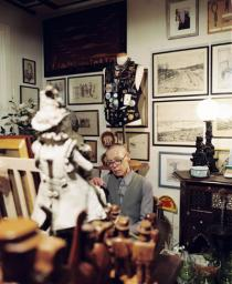 Hanne Darboven in her studiohouse, 2005