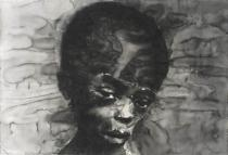 Yan Pei-Ming, Sudanese Child, 2006