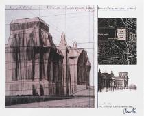 Christo, Wrapped Reichstag, Project for Berlin, 1992. Deutsche Bank Collection. Courtesy & © Christo