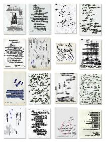 Lishan Chang, Id – by Van, 1997 – 1999 (1st part of Transition) About 500 sheets of drawing on documents, Courtesy of the Artist