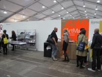 Press stand for ArtMag at Frieze Art Fair