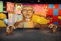 Os Gêmeos, Vertigem, MAB, exhibition view, photo Wagner Avancini