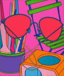 Michael Craig-Martin, Intimate Relations: Sunglasses, 2001, Courtesy of Michael Craig Martin and the Alan Cristea Gallery
