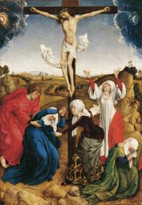 Rogier van der Weyden, Workshop, Crucifixion, Riggisberg, Abegg-Stiftung, Photo: Christoph von Vir�g