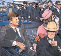 Audrey Flack, Kennedy Motorcade, 1964, Private collection, Courtesy Louis K. Meisel Gallery/New York, � Audrey Flack