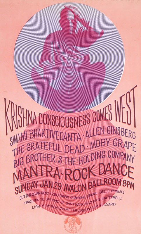 Harvey W. Cohen, Promotional poster for Mantra-Rock Dance musical event, 1967. www.harveywallacecohen.com (CC BY-SA 3.0)
