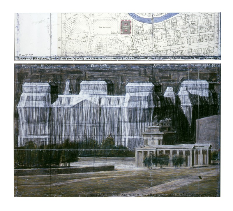 Christo, Wrapped Reichstag (Project for Berlin), 1987. © Christo. Photo: Eeva-Inkeri
