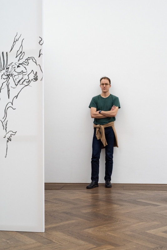 Nick Mauss, Bizarre Silks, Private Imaginings and Narrative Facts, etc., Kunsthalle Basel, 2020. Photo: Dominik Asche / Kunsthalle Basel